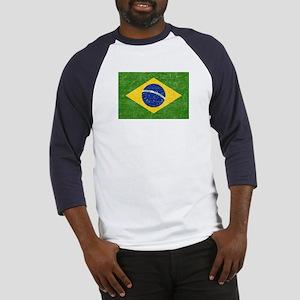 Vintage Brazil Flag Baseball Jersey