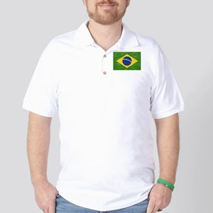Vintage Brazil Flag Golf Shirt