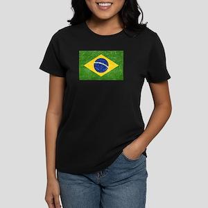 Vintage Brazil Flag Women's Dark T-Shirt