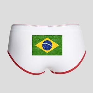 Vintage Brazil Flag Women's Boy Brief