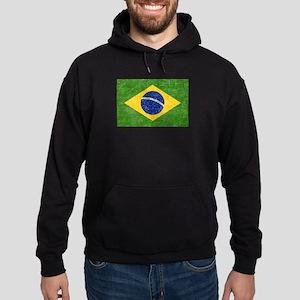 Vintage Brazil Flag Hoodie (dark)