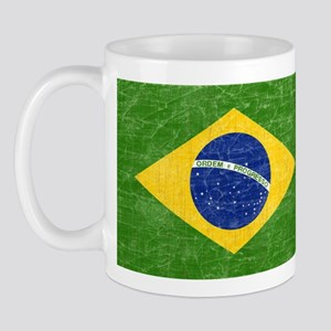 Vintage Brazil Flag Mug