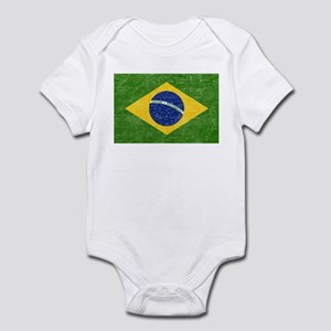 Vintage Brazil Flag Infant Bodysuit