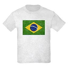 Vintage Brazil Flag Kids Light T-Shirt