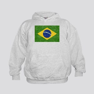 Vintage Brazil Flag Kids Hoodie
