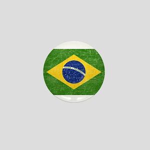 Vintage Brazil Flag Mini Button