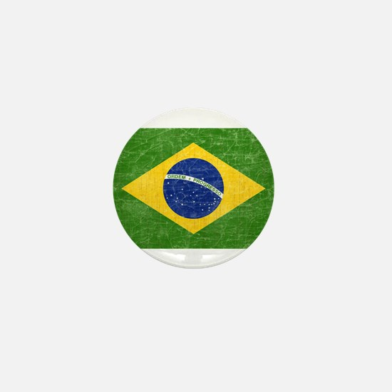 Vintage Brazil Flag Mini Button