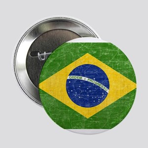 "Vintage Brazil Flag 2.25"" Button"