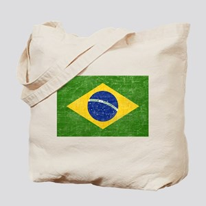 Vintage Brazil Flag Tote Bag