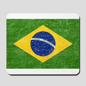 Vintage Brazil Flag Mousepad