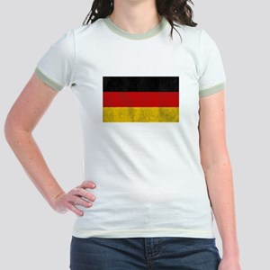 Vintage Germany Flag Jr. Ringer T-Shirt