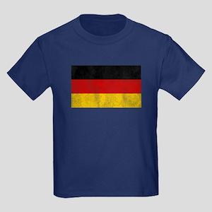 Vintage Germany Flag Kids Dark T-Shirt