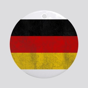 Vintage Germany Flag Ornament (Round)