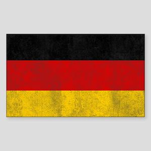 Vintage Germany Flag Sticker (Rectangle)