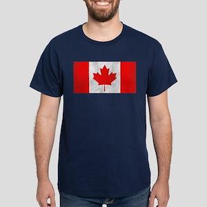 Vintage Canada Flag Dark T-Shirt