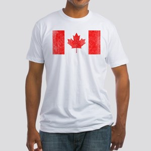 Vintage Canada Flag Fitted T-Shirt