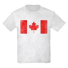 Vintage Canada Flag Kids Light T-Shirt