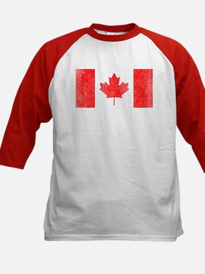 Vintage Canada Flag Kids Baseball Jersey