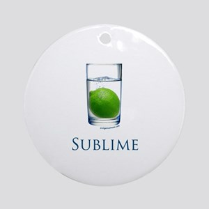 Sublime funny Ornament (Round)