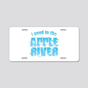 I Peed in the Apple River Aluminum License Plate