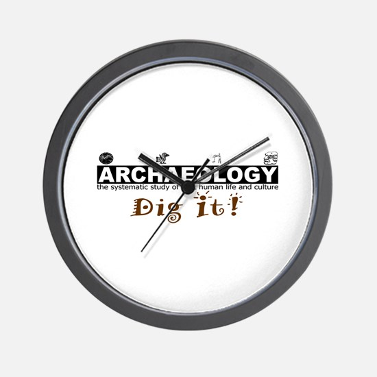 Archaeology, Dig It! Wall Clock