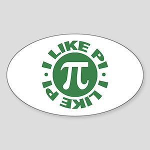 I Like Pi Oval Sticker