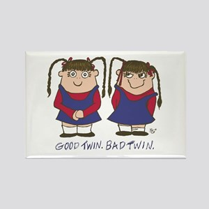 Good Twin/Bad Twin 2 Rectangle Magnet