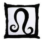 Leo Sign Gift Gear Throw Pillow