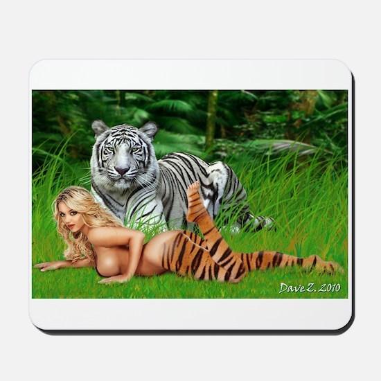 Tiger-girl Mousepad