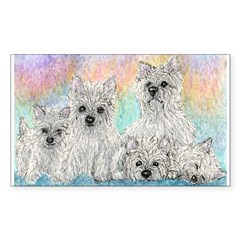 A warmth of westies Sticker (Rectangle 10 pk)