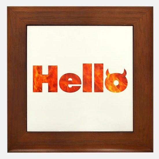 Hello Framed Tile