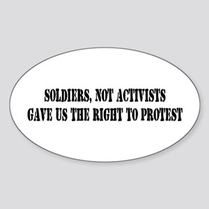 Soldiers Give Oval Sticker