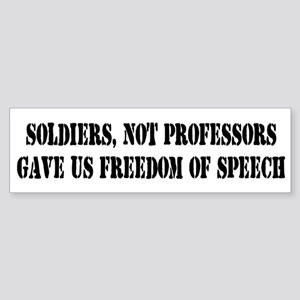 Soldiers Give Freedom of Spee Bumper Sticker