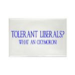 Tolerant Liberals? HA! Rectangle Magnet (100 pack)