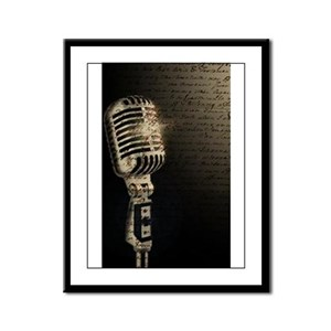 Microphone Notes: Framed Print