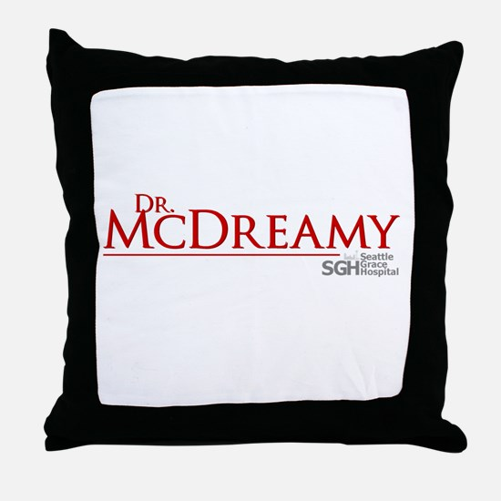 Dr. McDreamy Throw Pillow