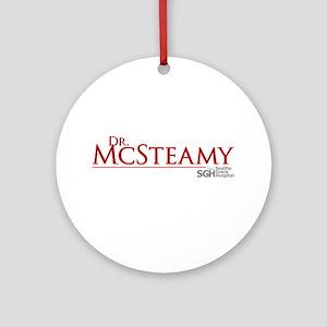 Dr. McSteamy Round Ornament