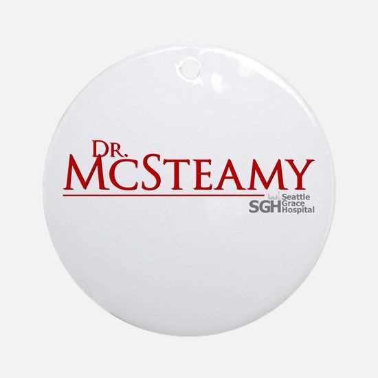 Dr. McSteamy Round Ornament