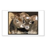 Not Food- Cows Sticker (Rectangle 10 pk)