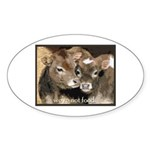 Not Food- Cows Sticker (Oval 10 pk)