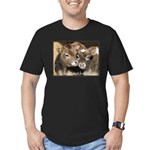 Not Food- Cows Men's Fitted T-Shirt (dark)