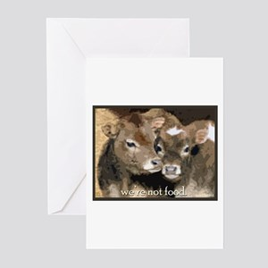 Not Food- Cows Greeting Cards (Pk of 20)
