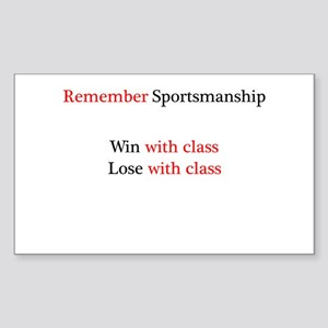 Sportsmanship (Text on front only) Sticker (Rectan