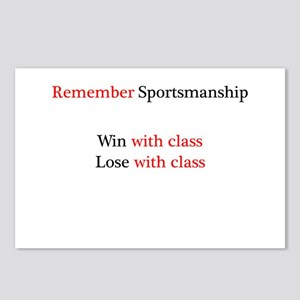 Sportsmanship (Text on front only) Postcards (Pack