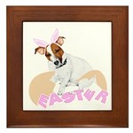 Jack Russell Easter Design Framed Tile