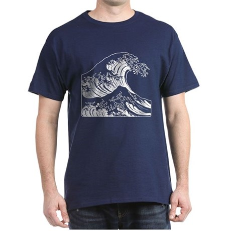 The Great Wave (White) Dark T-Shirt