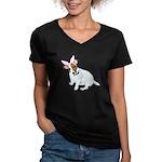 Jack Rabbit Women's V-Neck Dark T-Shirt