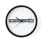 """""""Tattoo"""" Wall Clock"""