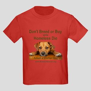 Adopt a Shelter Dog Kids Dark T-Shirt