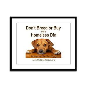 Adopt a Shelter Dog Framed Panel Print